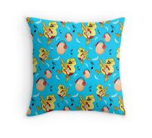 ROCK CHICK (pattern version) Throw Pillow