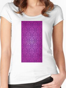 Damask Seamless Floral Pattern Women's Fitted Scoop T-Shirt