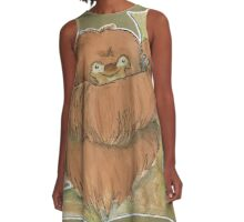 Hugging Sloth A-Line Dress