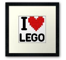 I Love Lego Framed Print