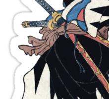 Samurai Wielding Naginata Sticker