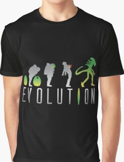 Evolution Aliens Graphic T-Shirt