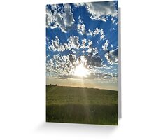 Cloudset Portrait Greeting Card
