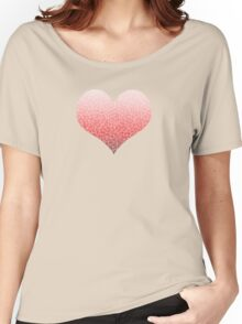 Ombre red and white swirls zentangle Women's Relaxed Fit T-Shirt