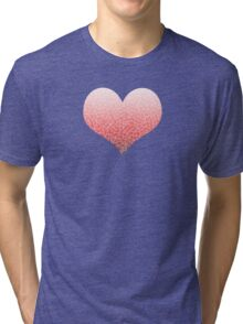 Ombre red and white swirls zentangle Tri-blend T-Shirt