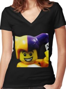 Lego Jester! Women's Fitted V-Neck T-Shirt