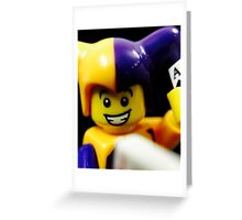 Lego Jester! Greeting Card