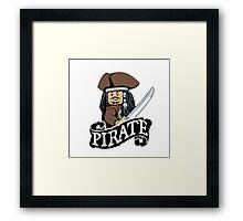 Lego Pirate Framed Print
