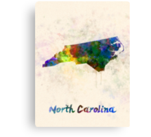 North Carolina US state in watercolor Canvas Print
