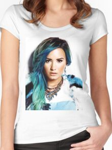 Demi LOvato Women's Fitted Scoop T-Shirt