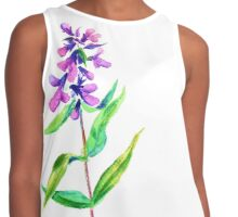 Lilac flower. Watercolor floral illustration. Contrast Tank