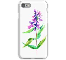 Lilac flower. Watercolor floral illustration. iPhone Case/Skin