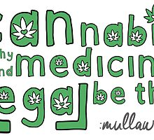 Let Cannabis Be Thy Medicine And Medicine Be Thy Legal by elubatel