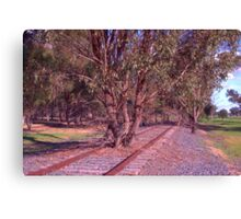 Tree on the track Canvas Print