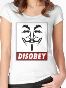 Anonymous Disobey Women's Fitted Scoop T-Shirt