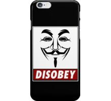 Anonymous Disobey iPhone Case/Skin