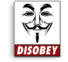 Anonymous Disobey Canvas Print