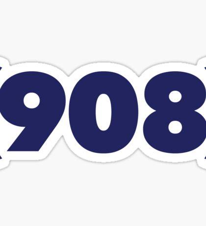 (908) dark blue Sticker