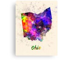 Ohio US state in watercolor Canvas Print