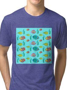 marine fish for a blue background Tri-blend T-Shirt