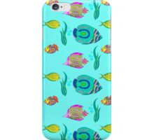 marine fish for a blue background iPhone Case/Skin