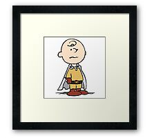One Punch Charlie Brown Framed Print