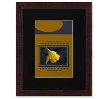 Modern Daffodil T-Shirt Dress Framed Print