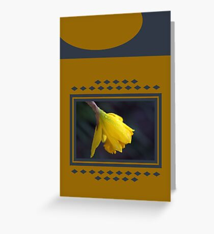 Modern Daffodil T-Shirt Dress Greeting Card