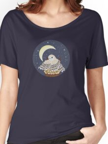 Barn Owl on a Tree Stump 2 Women's Relaxed Fit T-Shirt