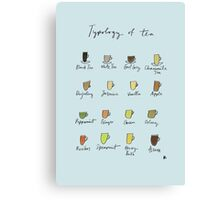 Tea Typology - Commissioned by Allie Canvas Print