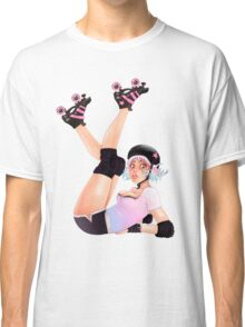 Retro Pinup Roller Derby Girl Classic T-Shirt