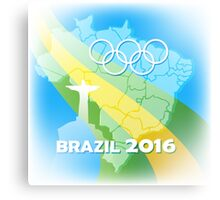 Brazil Olympic Games Poster Canvas Print