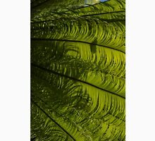 Tropical Green Rhythms - Feathery Fern Fronds - Right Vertical View Unisex T-Shirt