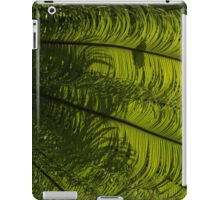 Tropical Green Rhythms - Feathery Fern Fronds - Right Vertical View iPad Case/Skin