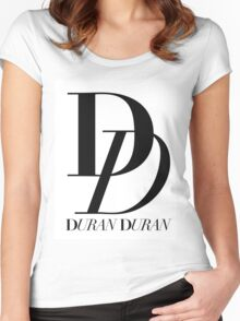 Duran Duran Logo Women's Fitted Scoop T-Shirt