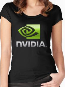 NVDIA Women's Fitted Scoop T-Shirt