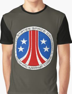 United States Colonial Marine Corps Insignia - Aliens - Dirty Graphic T-Shirt
