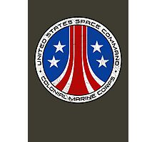 United States Colonial Marine Corps Insignia - Aliens - Dirty Photographic Print