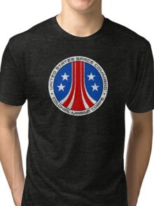 United States Colonial Marine Corps Insignia - Aliens - Dirty Tri-blend T-Shirt