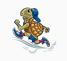 Running Turtle in sporting shoes and hat.  Unisex T-Shirt