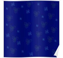 floral ornament, floral pattern Poster