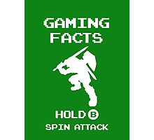 Gaming Facts Spin Attack Photographic Print