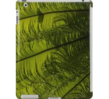 Tropical Green Rhythms - Feathery Fern Fronds - Left Vertical View iPad Case/Skin