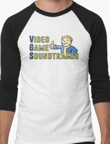 Video Game Soundtracks (YT Logo) Men's Baseball ¾ T-Shirt