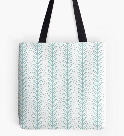 Simple leaf blue seamless pattern Tote Bag