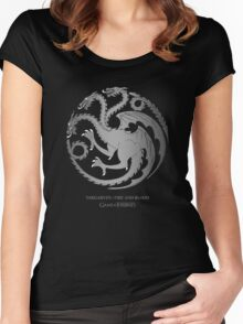 Silver Dragon  Women's Fitted Scoop T-Shirt