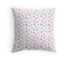 simple baby cute floral pastel pattern Throw Pillow