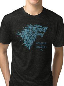 Blue ice Wolf MD Tri-blend T-Shirt