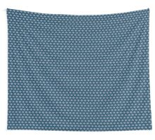 simple seamless knitting blue flower pattern Wall Tapestry