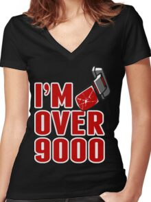 I'm over 9000 Women's Fitted V-Neck T-Shirt